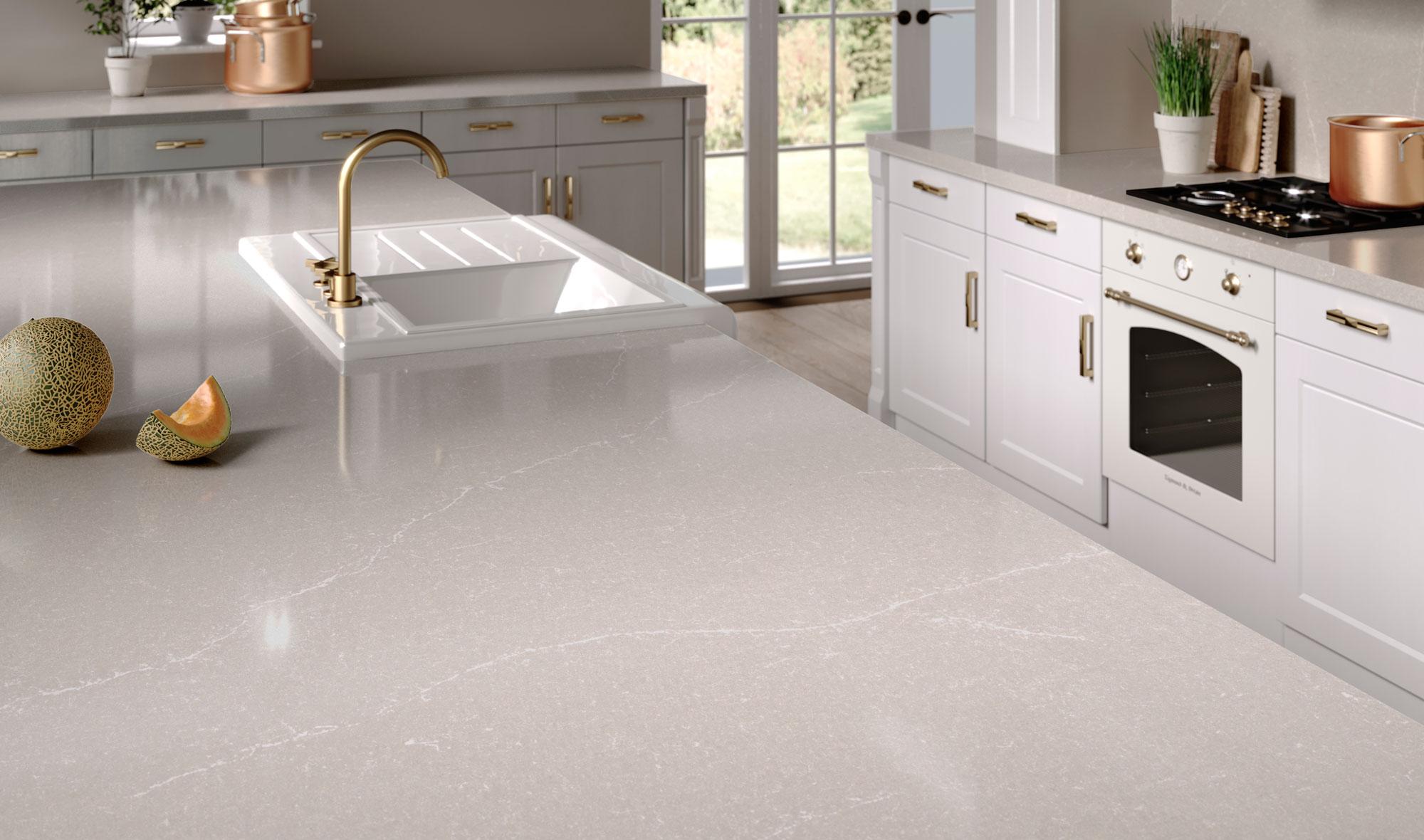 Silestone-Kitchen-Desert-Silver